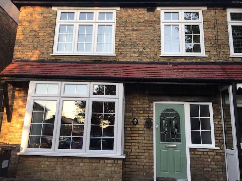 Dummy sash windows and front door