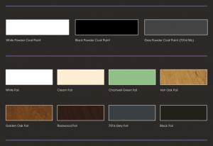 Alumina bi-fold doors colours